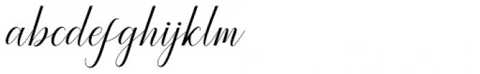 Princella Script Regular Font LOWERCASE