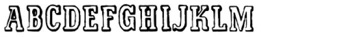 Printed Letters JNL Font UPPERCASE