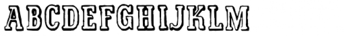 Printed Letters JNL Font LOWERCASE
