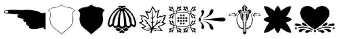 Printers Dingbats JNL Font LOWERCASE