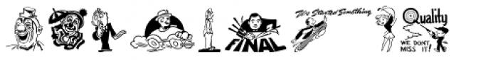 Printers Stock Cuts JNL Font UPPERCASE