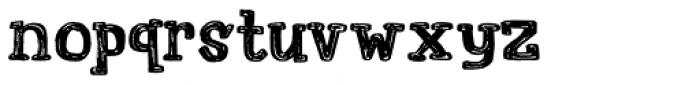 Printout Font LOWERCASE