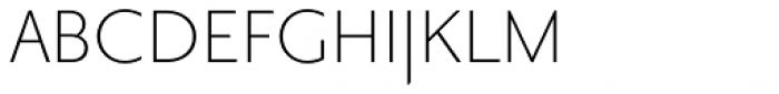 Priori Sans Light Font UPPERCASE