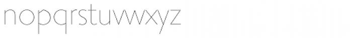 Priori Sans UltraLight Font LOWERCASE