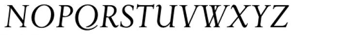 Priori Serif Italic Font UPPERCASE