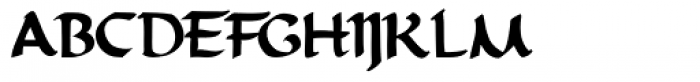 Priory Bold Font UPPERCASE