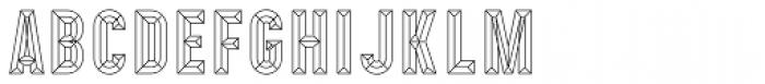 Prismatic 10 Bevel Font UPPERCASE