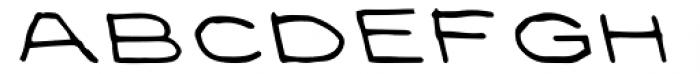 Privé Backslant Font LOWERCASE