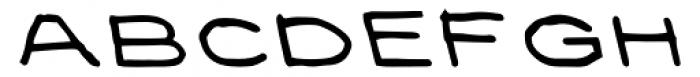 Prive Bold Backslant Font UPPERCASE