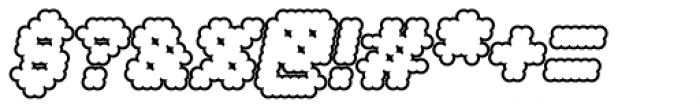 Procyon Bloated Italic Outline Font OTHER CHARS