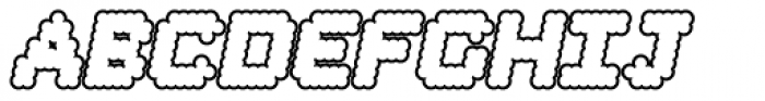 Procyon Bloated Italic Outline Font UPPERCASE