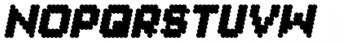 Procyon Fat Italic Font UPPERCASE