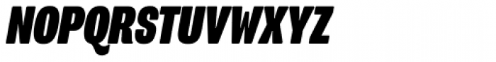 Program Narrow OT Black Italic Font UPPERCASE