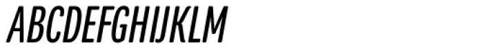 Program Narrow OT Italic Font UPPERCASE