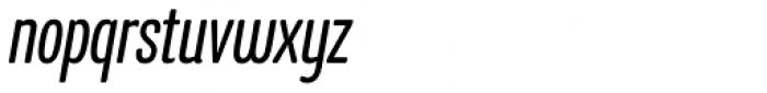 Program Narrow OT Italic Font LOWERCASE