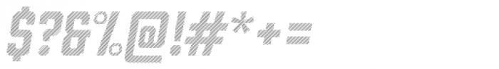 Prohibition Lines Oblique Font OTHER CHARS