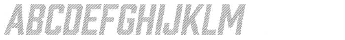 Prohibition Lines Oblique Font UPPERCASE