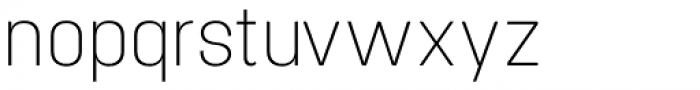 Project Sans Ultra Light Font LOWERCASE