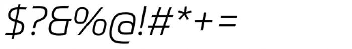Prometo Light Italic Font OTHER CHARS
