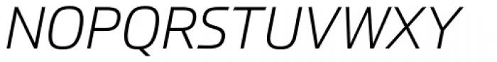 Prometo Light Italic Font UPPERCASE