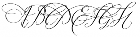 Prosciutto Mixed Swash Font UPPERCASE