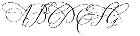 Prosciutto Swash Font UPPERCASE