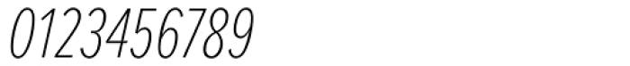 Proxima Nova A ExtraCond Thin Italic Font OTHER CHARS