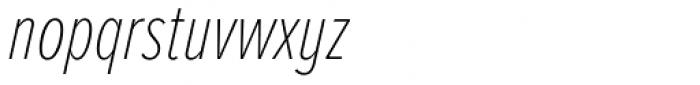 Proxima Nova A ExtraCond Thin Italic Font LOWERCASE