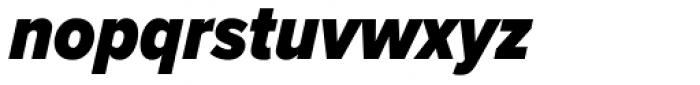 Proxima Nova Cond Black Italic Font LOWERCASE