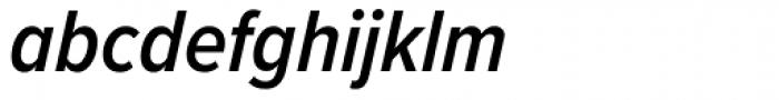 Proxima Nova Cond SemiBold Italic Font LOWERCASE