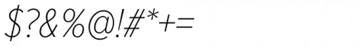 Proxima Nova Cond Thin Italic Font OTHER CHARS