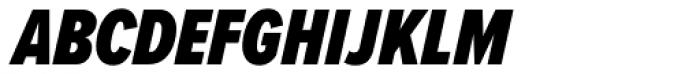 Proxima Nova ExtraCond Black Italic Font UPPERCASE