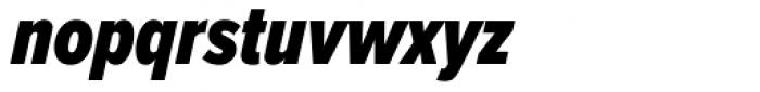 Proxima Nova ExtraCond Black Italic Font LOWERCASE