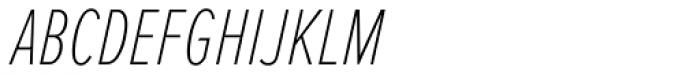 Proxima Nova ExtraCond Thin Italic Font UPPERCASE
