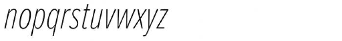 Proxima Nova ExtraCond Thin Italic Font LOWERCASE