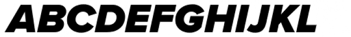 Proxima Nova S Black Italic Font UPPERCASE