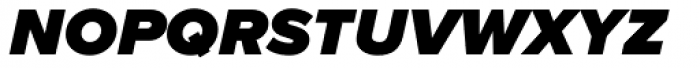 Proxima Nova S Black Italic Font LOWERCASE