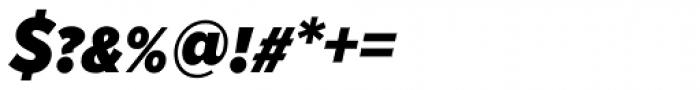 Proxima Nova S Cond Black Italic Font OTHER CHARS