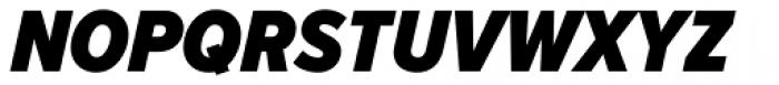 Proxima Nova S Cond Black Italic Font UPPERCASE