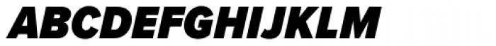 Proxima Nova S Cond Black Italic Font LOWERCASE