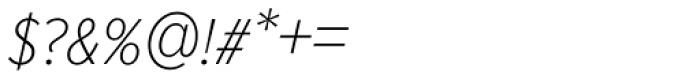 Proxima Nova S Cond Thin Italic Font OTHER CHARS