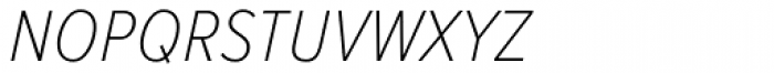 Proxima Nova S Cond Thin Italic Font LOWERCASE