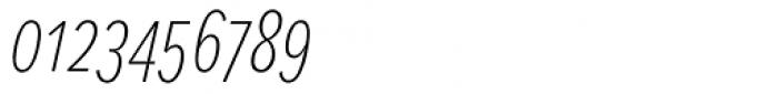 Proxima Nova S ExtraCond Thin Italic Font OTHER CHARS
