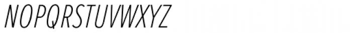Proxima Nova S ExtraCond Thin Italic Font LOWERCASE