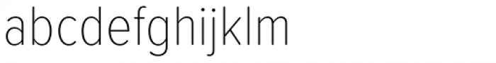 Proxima Soft Cond Thin Font LOWERCASE