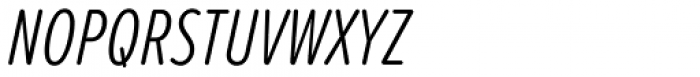 Proxima Soft ExtraCond Light Italic Font UPPERCASE