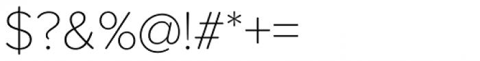 Proxima Soft Thin Font OTHER CHARS