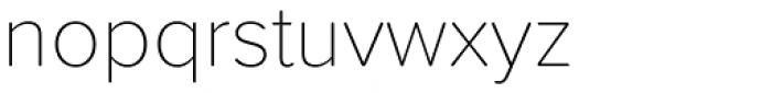 Proxima Soft Thin Font LOWERCASE