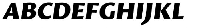 Proza Black Italic Font UPPERCASE