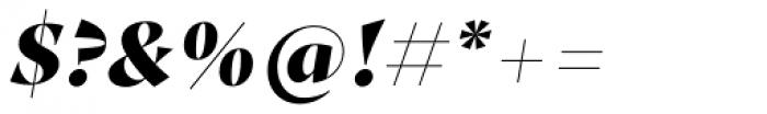 Proza Display Black Italic Font OTHER CHARS